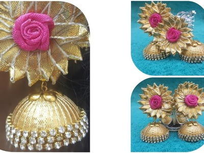 (DIY)HOW TO MAKE GOTTA JHUMKA.GOTTA JEWELLERY.THE STUNNING HANDMADE'S.