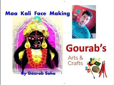 DIY Maa Kali Face Decoration At Home With Paper    Dewali Decoration    Kali Puja    Devi Kali