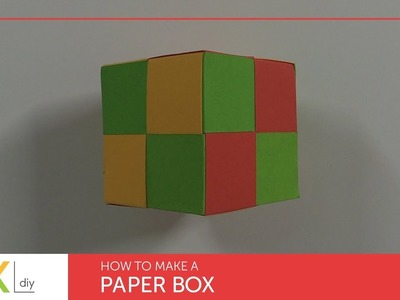 DIY Paper crafts #7 - How to make a paper box (Cube)