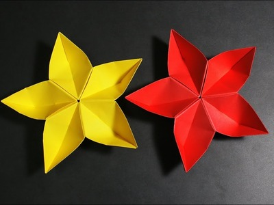 Origami easy origami how to make face towel folding peach paper flower how to make 5 petal origami flower at mightylinksfo
