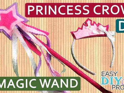 DIY Princess Crown and Magic Wand for Kid | How to make Princess Crown & Magic Wand