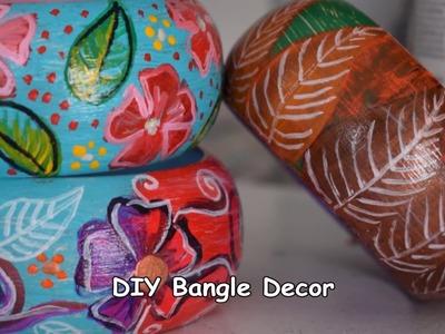 Doodling on Wooden Bangles   DIY Jewelry Making Demo   Jasvir Kambo