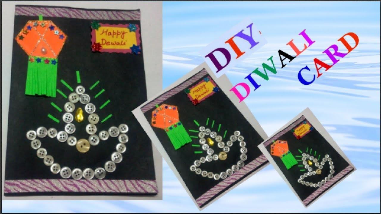 easy diwali card making idea for kids diy diwali card
