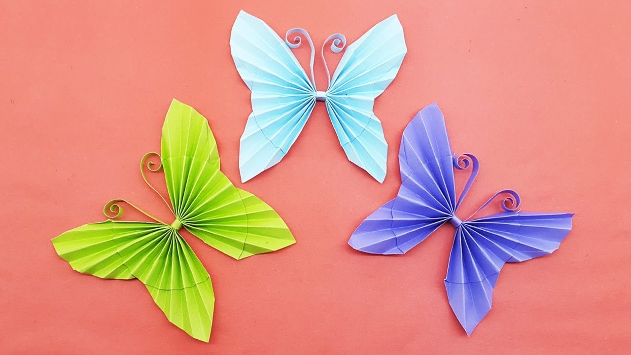Easy paper butterfly origami diy paper crafts how to for Paper art butterfly