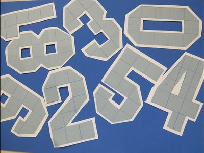 Easy to Make Number Cutting with Grid Paper Crafts
