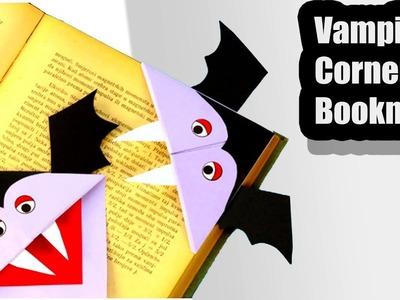 Halloween origami :How to Make origami Vampire Corner Bookmark-Paper Folding Craft,Videos