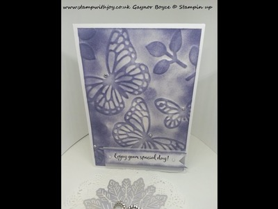 How to create your own embossing folders using stampin up products