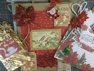 How to decorate Christmas gift bags! DIY