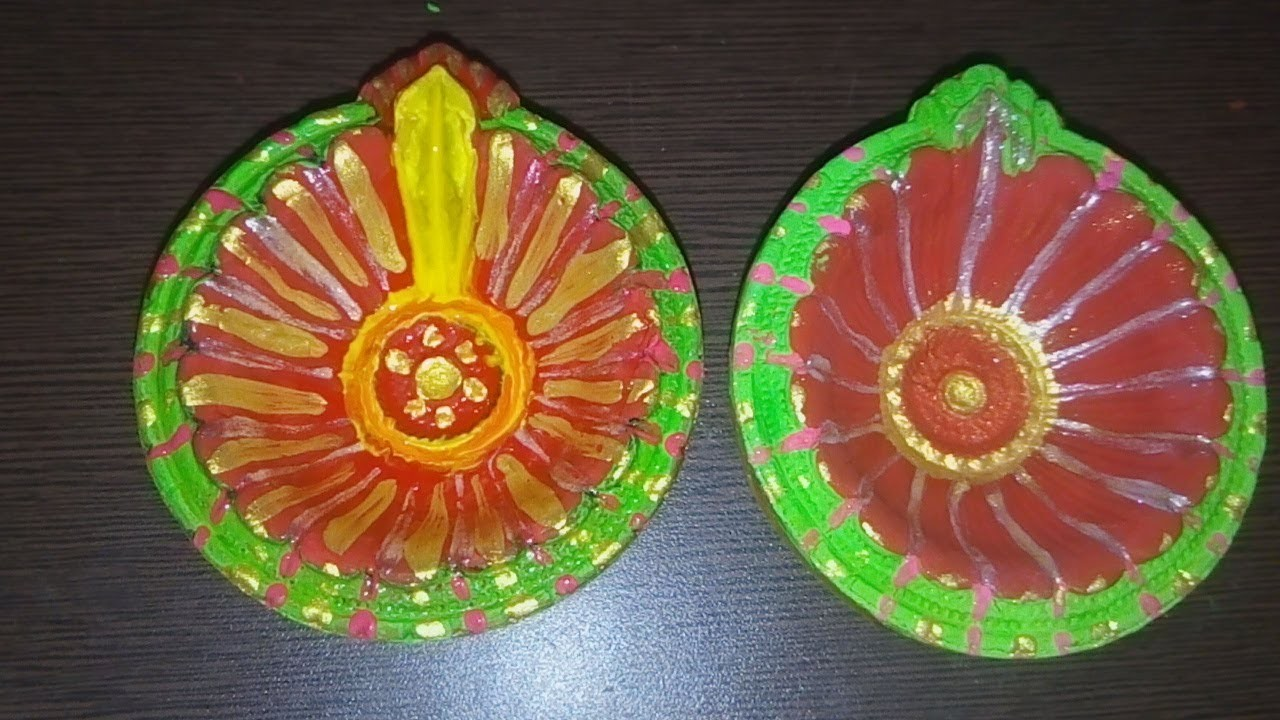 How To Design Diya At Home My Crafts And Diy Projects