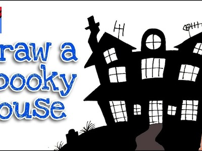 How to draw a Halloween House  step by step Real Easy