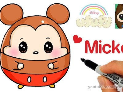 How to Draw Mickey Mouse Easy | Disney Ufufy