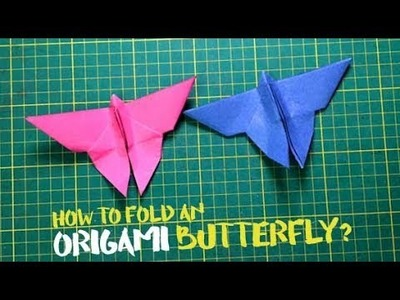 How to fold an origami butterfly?