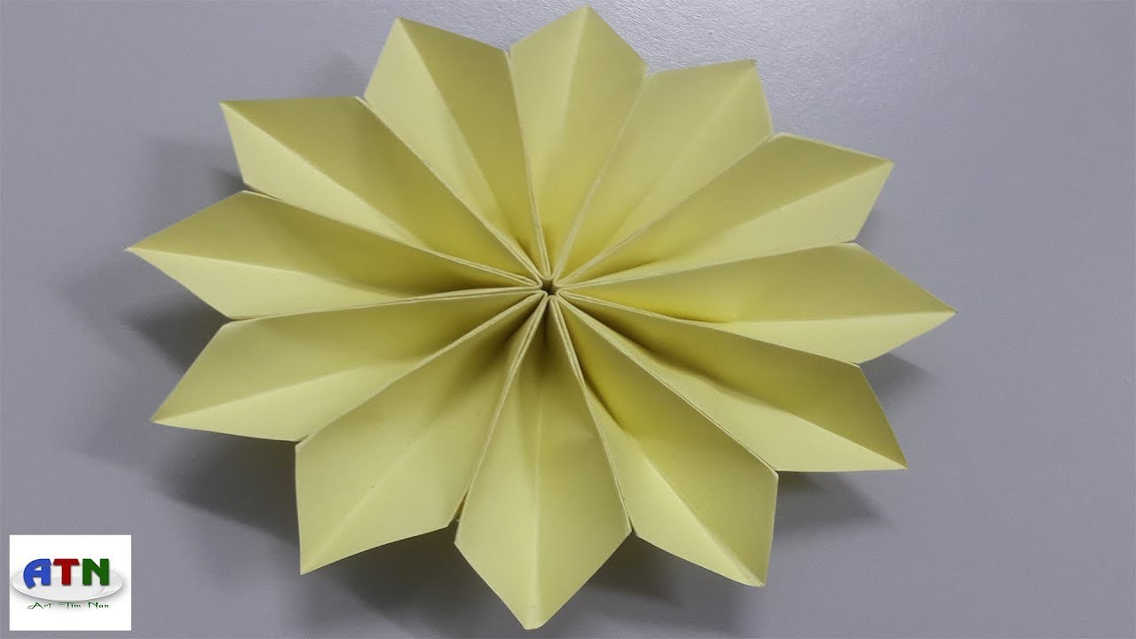 How To Fold Poinsettia Flower Origami Flower My Crafts And Diy