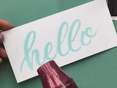 How to Heat Emboss Hand Lettering and Calligraphy