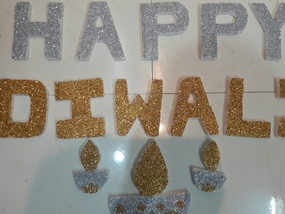 How to make 3D letters from thermocol sheet for making glittery decore