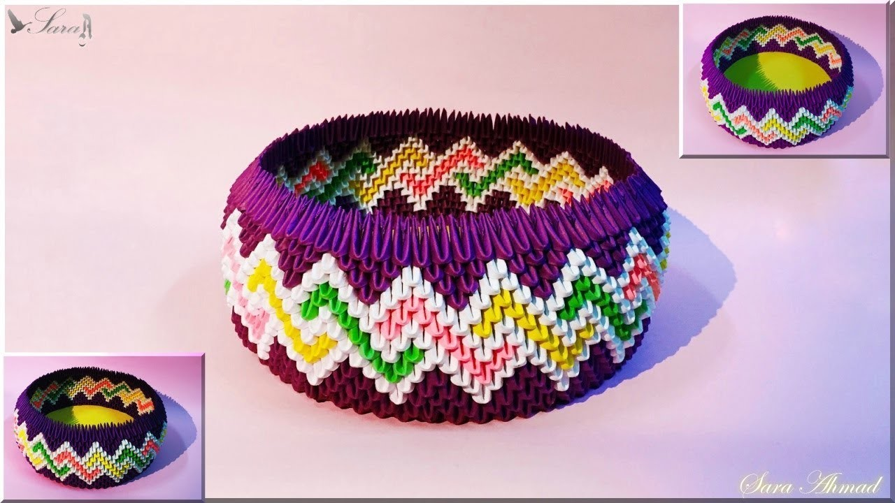 how to make origami basket easy