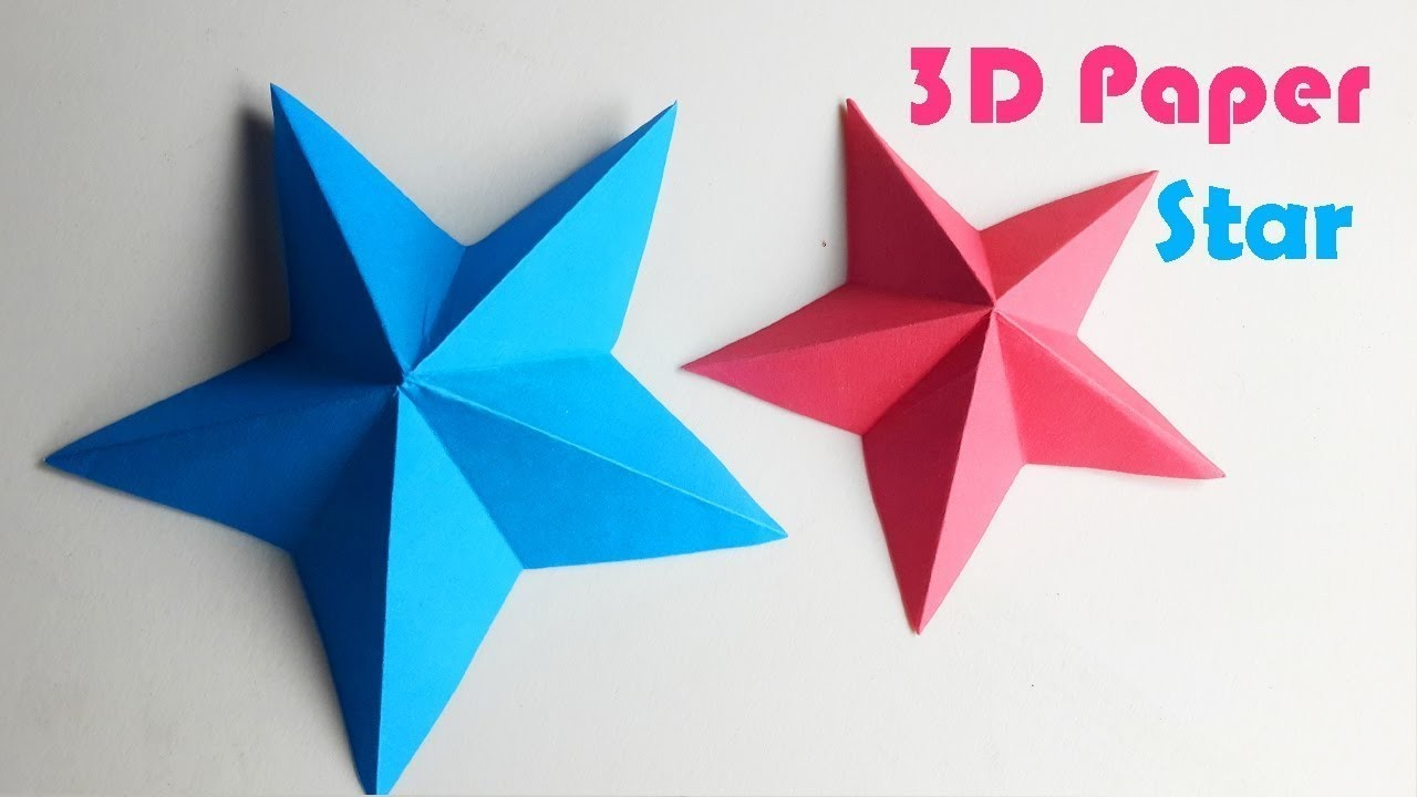 how to make a 3d paper star easy origami stars for