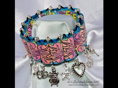 How To Make A Beautiful Charm Bracelet From Paper Beads