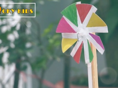 How to make a cheap pinwheel – Use paper and popsicle stick