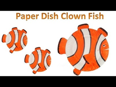 How to make a Clown Fish from Paper Dish