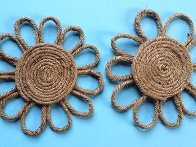 How to Make a Easy Decorative Twine. Jute Flower !!!