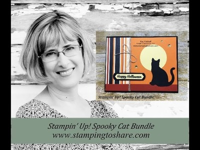 How to Make a Halloween Card with the Stampin' Up! Spooky Cat Bundle