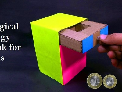 How to Make a Magic Drawer Piggy Bank With Cardboard At Home Very Easy - DIY Kids Piggy Bank