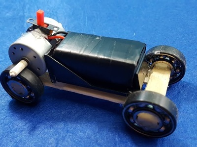 How to Make a Mini Car Using Bearings - Powerful Electric Car with Double Engine