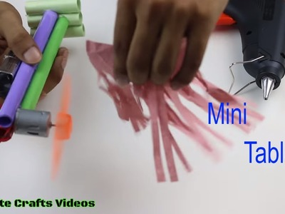 How to Make a Mini Table Fan with Papers Stand and DC Motor at Home | DIY Videos