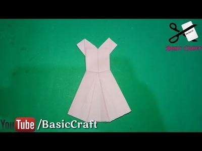 How To Make A Origami Paper Dress.Frock | कागज़ की फ्रॉक कैसे बनायें