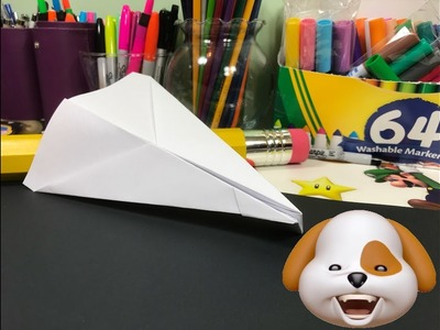 How to make a Paper Airplane Glider Easy and Fast ???? for Kids and Beginners - Bull Dog Dart Animoji
