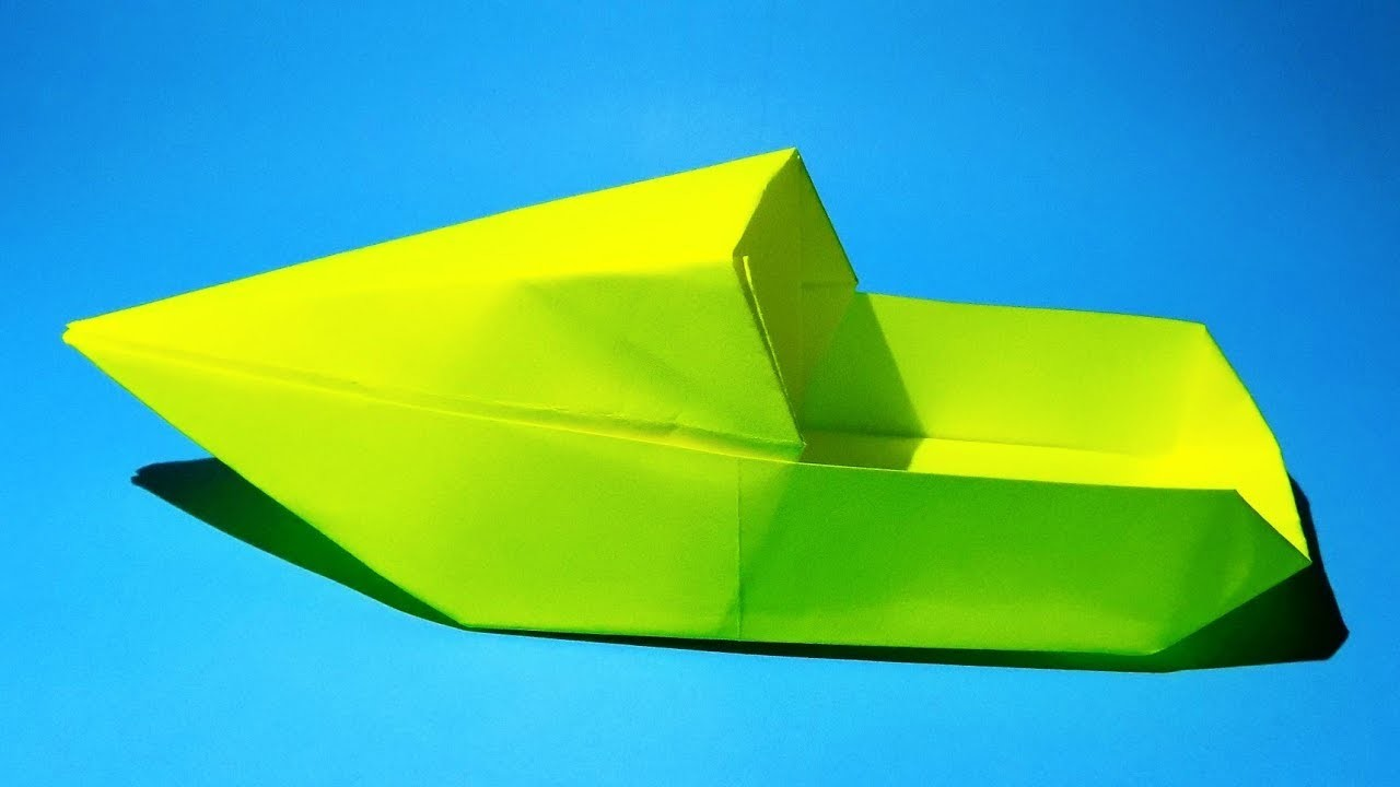 origami how to make a paper boat
