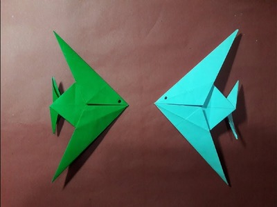 How to make a paper fish(Origami Fish)