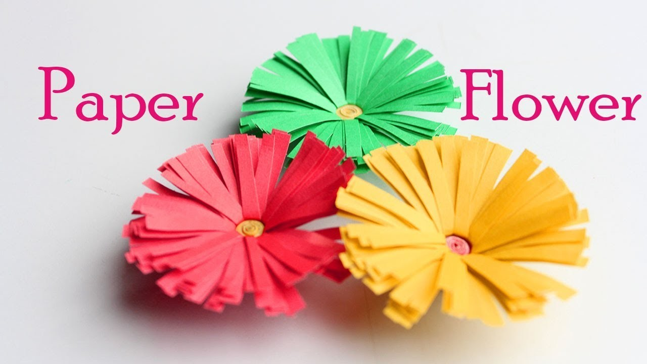 How To Make A Paper Flower Easy Origami Flower Tutorial Paper