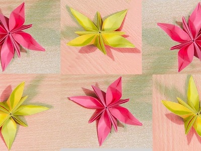 How to make a paper flowers.How to Make Origami Flower with Color Paper