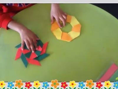 How to Make a Paper Ninja Star Origami | Kids Crafts | Bubbly Dots Crafts