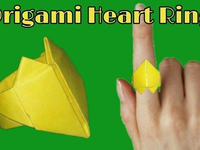 How To Make A Paper Origami Heart Ring   Paper Ring   कागज़ की अंगूठी कैसे बनायें