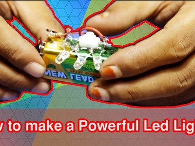 How to make a Powerful  Led Light | Awesome Maker 5-Minute Crafts