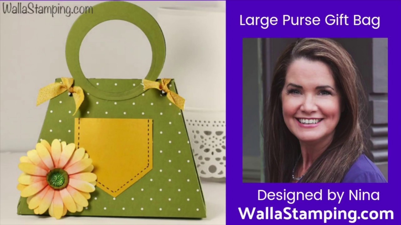 How To Make A Purse Gift Bag Using Stampin' Up! Products