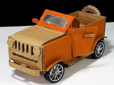 How to make a RC Car - Amazing Cardboard DIY for Kids