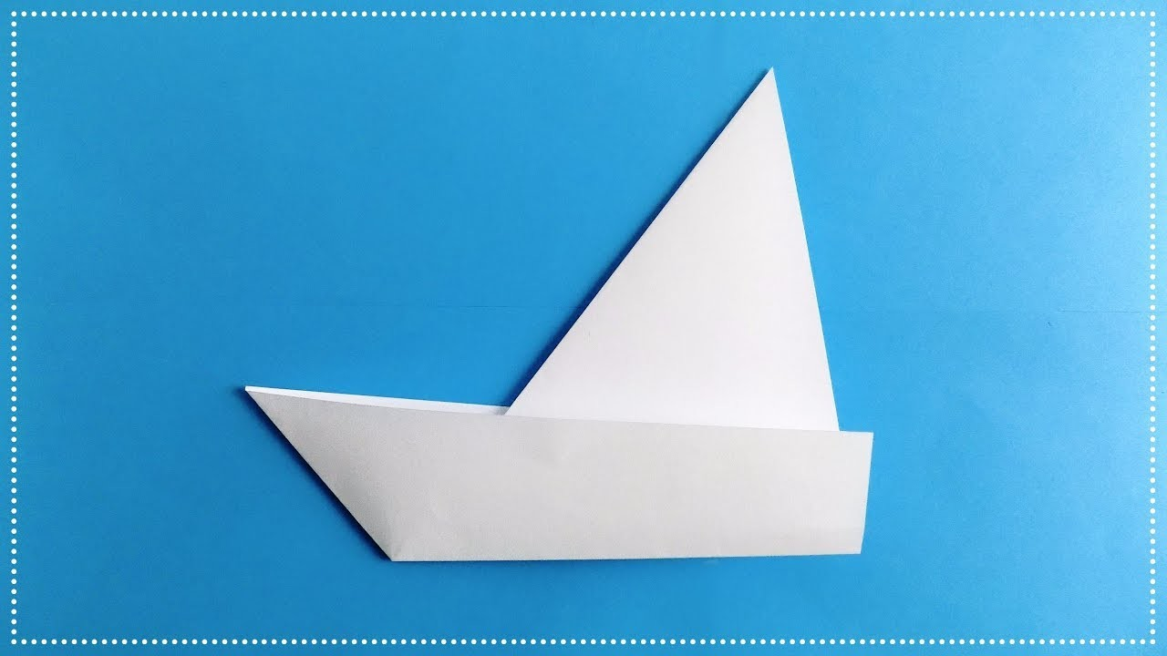 How to make a sailboat out of paper. Origami boat