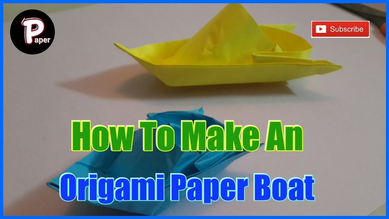 origami how to make a simple origami boat that floats