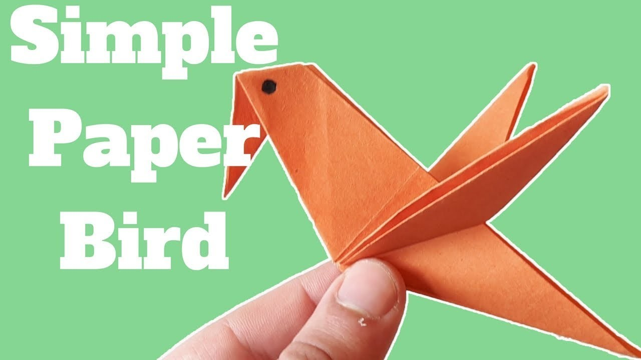 How To Make A Simple Paper Bird Diy Paper Crafts Origami Paper