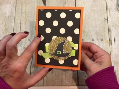 How to make a Spooky Cat Halloween Hat Card