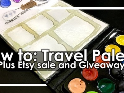 How to make a travel watercolor palette from dollar store materials+Giveaway CLOSED