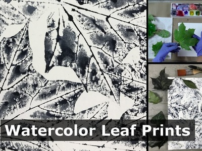 How To Make a Watercolor Leaf Print- FAST & EASY with amazing results