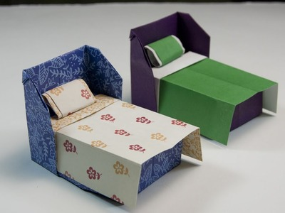How To Make An Origami Bed   DIY Paper Crafts
