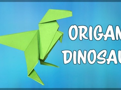 How to make an Origami Dinosaur - Easy fold by fold paper instructions!
