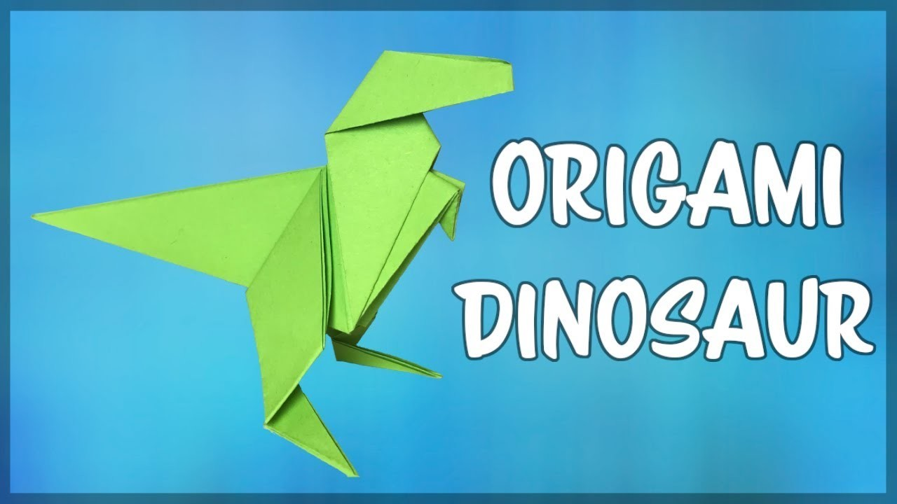 how to make an origami dinosaur easy fold by fold paper
