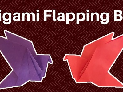 How to Make an Origami Flapping Bird | DIY-Paper Crafts: Origami.Paper Folding Craft, Easy Tutorial